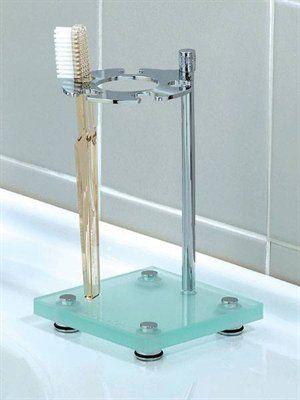 Valsan 53901CR Valdemar Dos Santos Contemporary Toothbrush Holder, Chrome - Fixture Universe