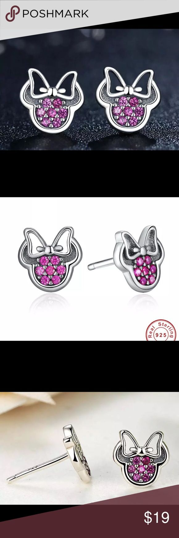 Minnie Mouse Disney Earrings 925 Silver Boutique