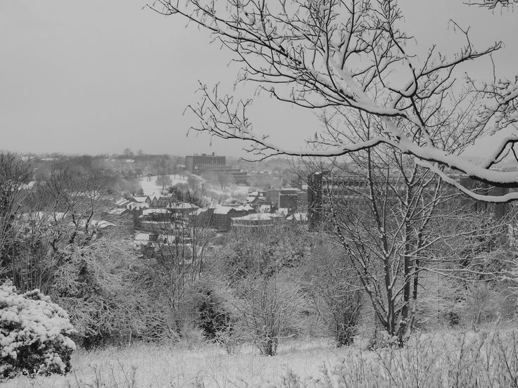 Chatham town centre in the snow from the Great Lines Heritage Path [shared]