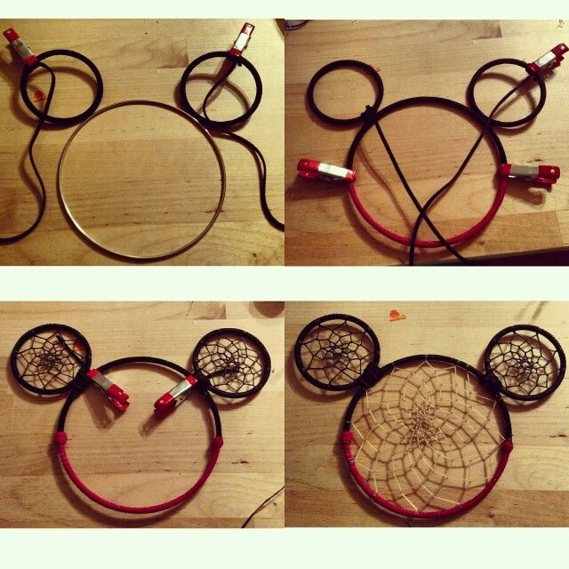 Process of Mickey Mouse Dreamcatcher By: Zane Nava