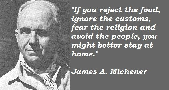 james joyce quotes | ... quotes of James A. Michener, James A. Michener photos. James A