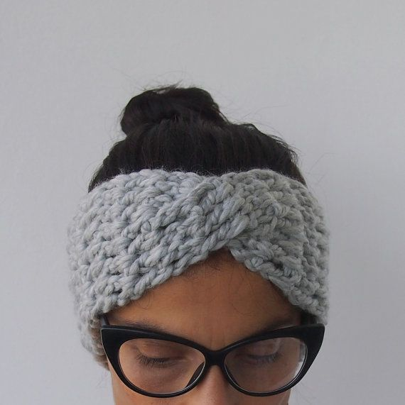 Crochet Pattern Turban Hat : Crochet Pattern turban headband chunky hat twist headwrap ...
