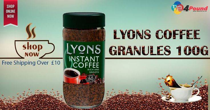Order Lyons Coffee Granules 100g Only at ‪#‎4pound‬ store.Get 50% Discount Buy Now: http://www.4pound.co.uk/lyons-coffee-granules-100g