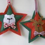 Estrellas de fieltro para el árbol de navidad