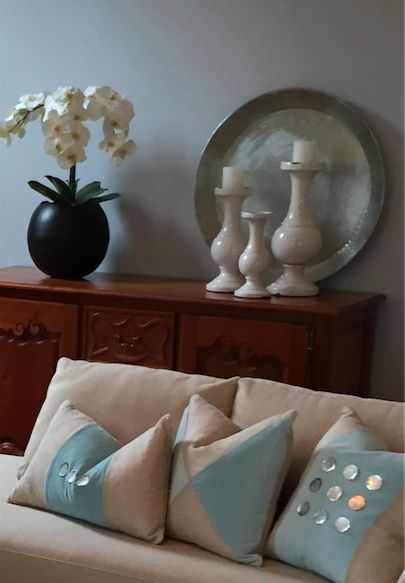 Cushions and all accessories sourced by Ornella Botter Interiors.