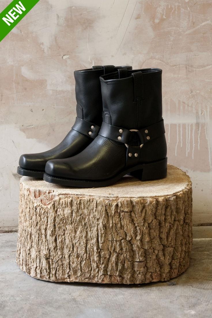 "Frye Harness Boots 8"" in Black"