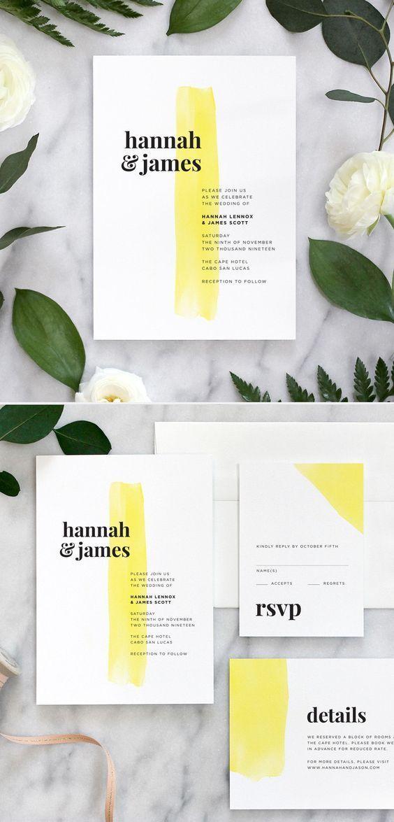 Color Bar Wedding Invitations, spring outdoor wedd…