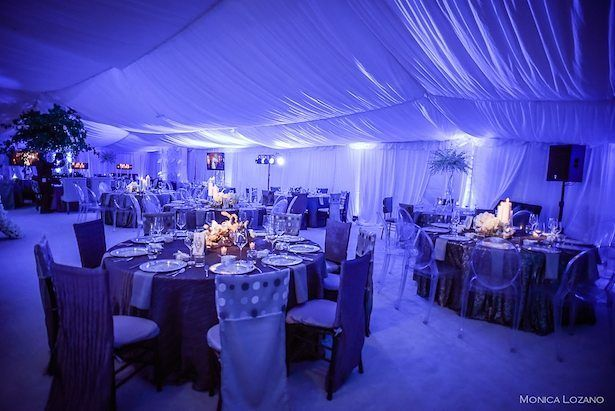 Gorg Tent Ceremony With Stunning Colorwahs Uplight