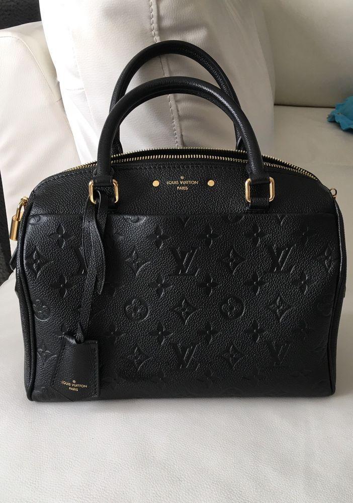 Louis Vuitton Speedy 25 Empreinte Monogram Leather Bandouliere Handbag In Noir #LouisVuitton #Satchel