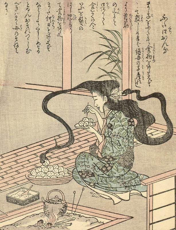 Ehon_Hyaku_Monogatari_Futakuchi-onna.jpg (614×800)