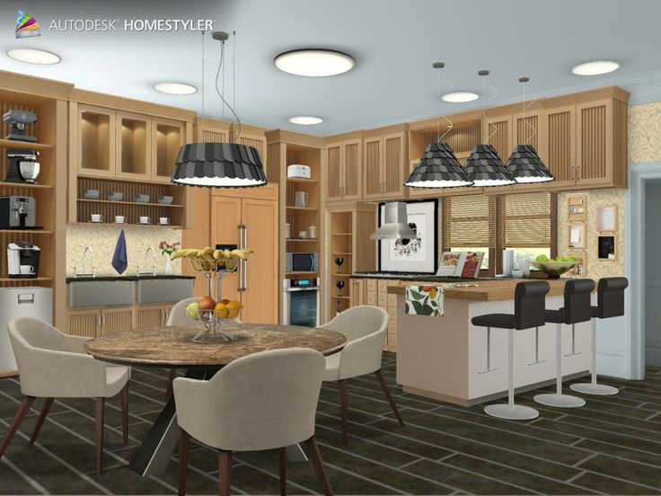 """Check out my #interiordesign """"Wooden kitchen"""" from #Homestyler http://autode.sk/N27S1l"""