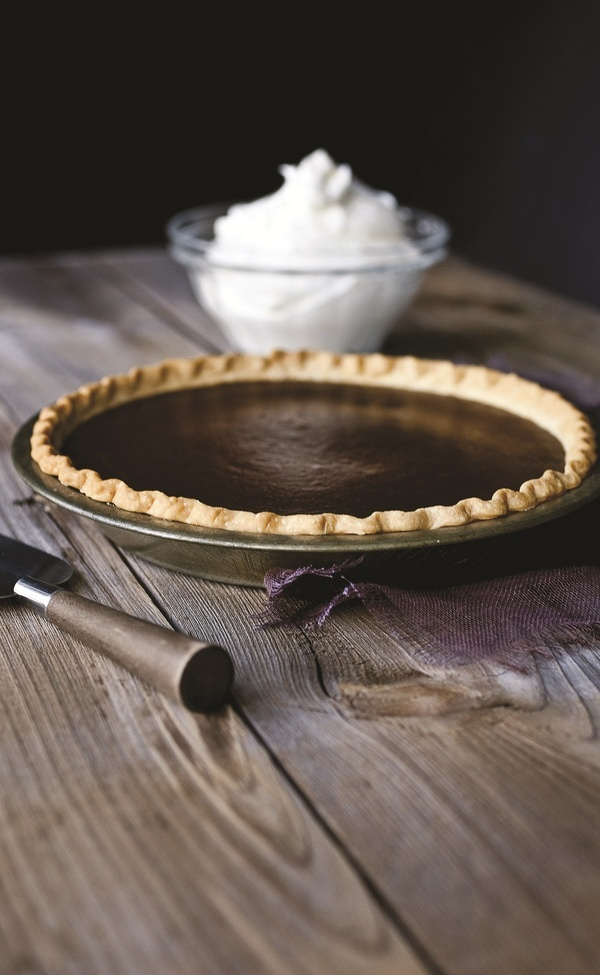 the chew | Recipe  | Michael Symon's Chocolate Pumpkin Pie...Made this last year and it was delicious! I've also made it without the chocolate and it is the perfect pumpkin pie.