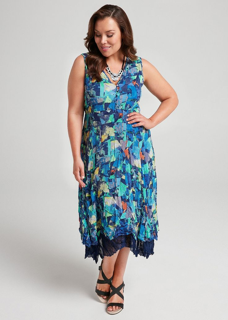 Beyond Blue Dress #takingshape #plussize #curvy #ts