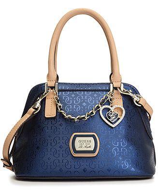 GUESS Handbag, Margeaux Amour Dome Satchel - Handbags & Accessories - Macy's
