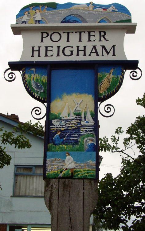 Village sign at Potter Heigham, Norfolk, England by Barbara Whiteman -