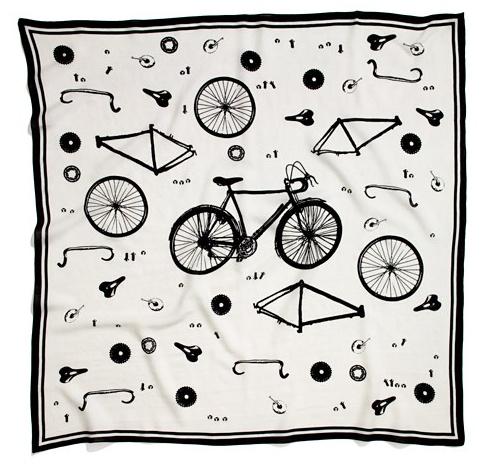 Black & white, black, white, fashion, scarf, scarves, bike, bicycle, bicycle scarf