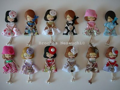 BROCHES NEREUCHI: Broches muñequitas | Girl Brooches