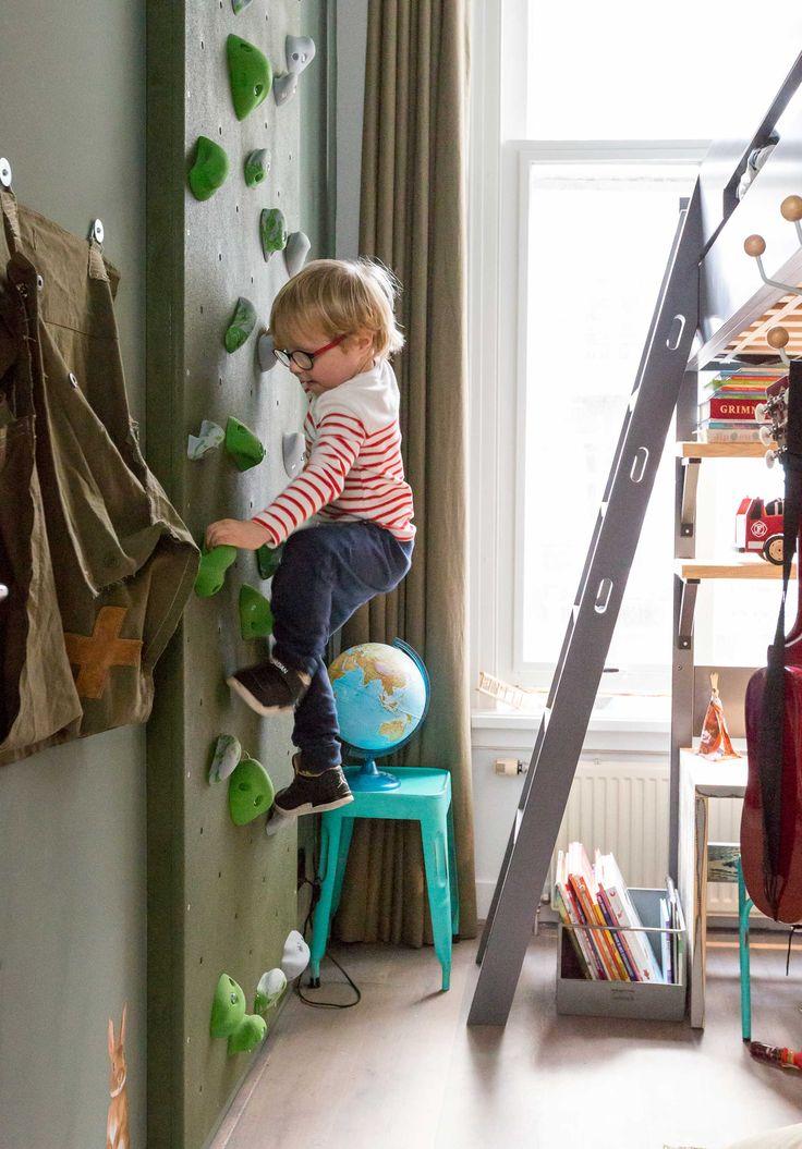 Klimwand bij Marre en Jan uit aflevering 2, seizoen 1 | kijken en kopen | Make-over door: Anya van de Wetering | Fotografie Barbara Kieboom