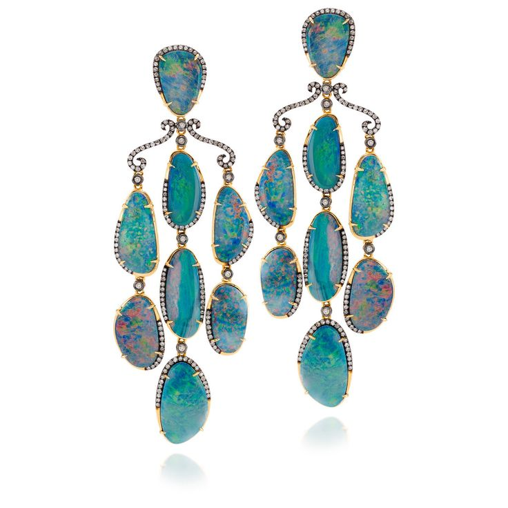 19 best fine earrings images on pinterest diamond chandelier fire opal and diamond chandelier earring by desires by mikolay mozeypictures Images