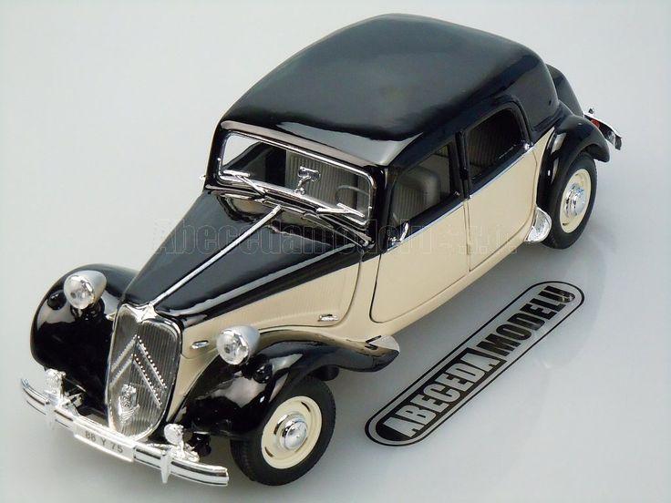 Maisto 1 18 Citroen 15cv 6 Cyl 1952 Black Beige 31821 Car Model Diecast Model Cars Citroen