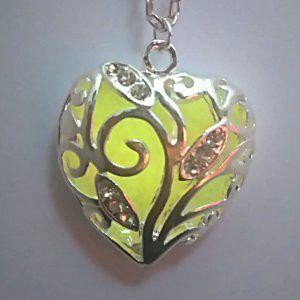 Zesty Yellow Glow in the Dark (Glowie) necklace pendant.