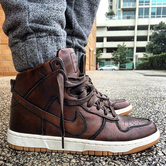 Nike SB Dunk Hi: Burnished Leather