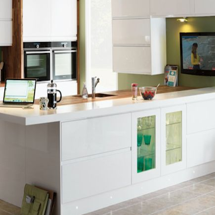 1000 images about white gloss kitchens on pinterest for Homebase kitchen units