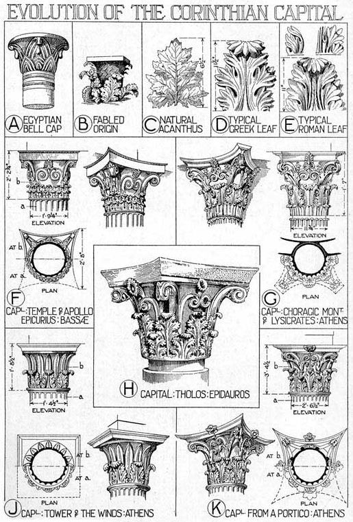 Evolution of the Corinthian Capital.