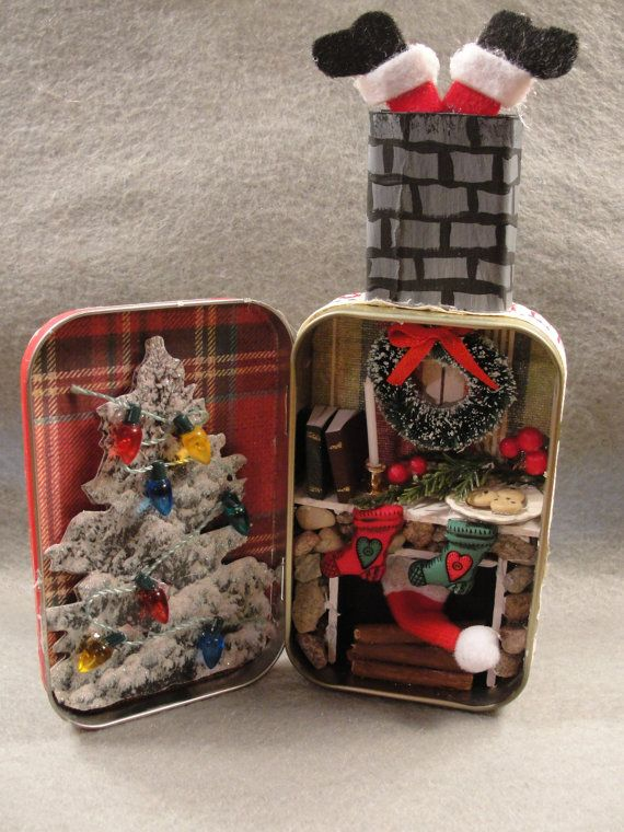 Christmas Holiday Santa Stuck in Chimney Fire Mantel by Apensons, $26.00