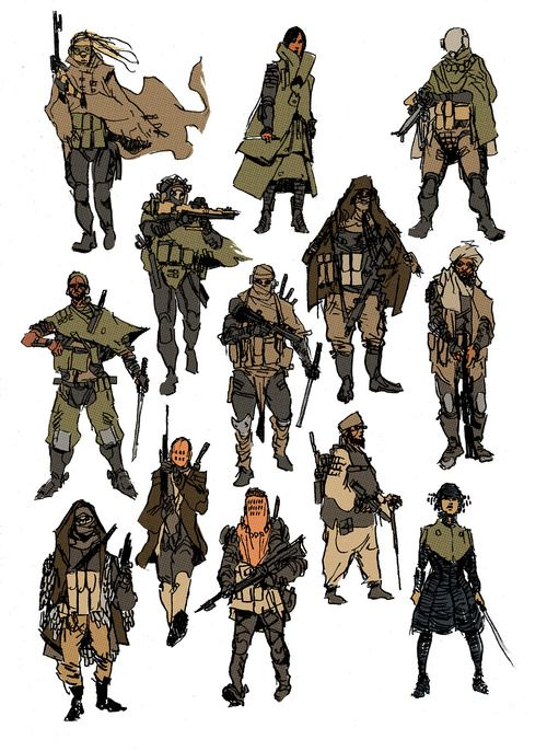 drawforbroke:  Character concepts inspired by Frank Herbert's DUNE.