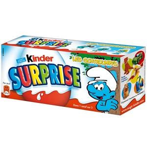 Les Kinder Surprise peuvent aussi parfois avoir un packaging secondaire. Dans les GMS, les Kinder Surprise sont vendus sous un format familiale de 3 par boîte, des boîtes en carton rectangulaire à l'effigie des jeux-surprise que l'enfant trouvera à l'intérieur. C'est un format pratique et économique.