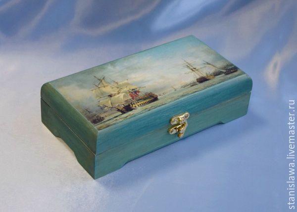 """Купить Купюрница """"Морская"""" - морская волна, хранительница, хранение, хранение денег, шкатулка для денег"""