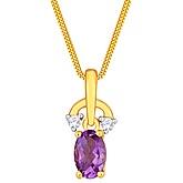 G Divas 18KY Gold Pendant with 0.03CT Diamond