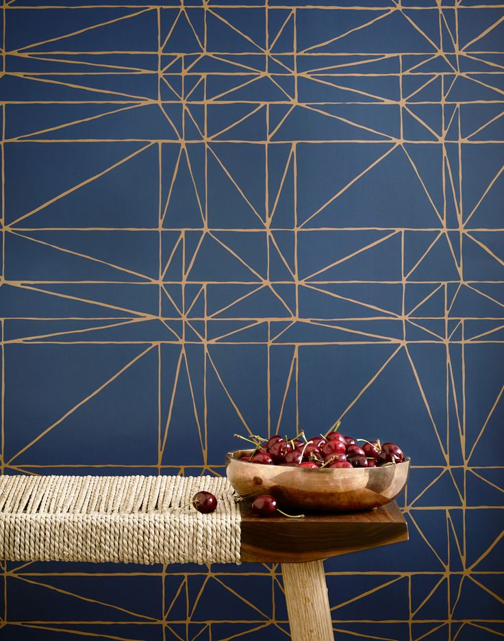 Our luxe, modern wallpapers are screen printed by hand Details - Roll: 27 in x…