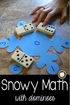 Keep the fun in math this winter with domino games!  Click this post to find out about this simple addition and subtraction game, plus for ideas for easy differentiation! Great for a snowy day!