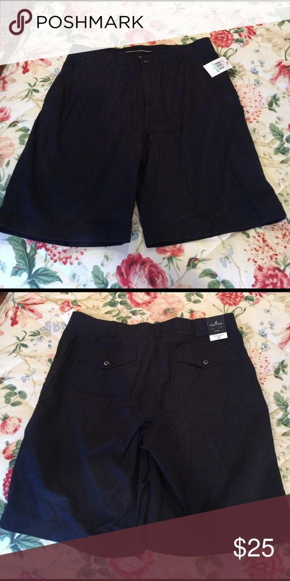 Nautical flat front shorts NWT navy flat front men's shorts Nautica Shorts Flat Front