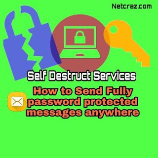 Send password protected  Destructed   Encrypted messages  Hello there ... !! Netcraz always focused and concerns on your security and concealment. About security and privacy we can talk about our social media where we everyday spend our lots of time for communication with friends family. So for communication we use phone calls messages Facebook Whatsapp Hike messenger Telegram and others messaging services. Here mentioned every social and messaging services except Telegram non of them are…