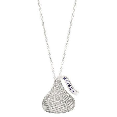 31 best hershey kisses images on pinterest hersheys kisses the hersheys kiss pendant is an iconic sign of love designed in sterling silver this extra large flat back cubic zirconia hersheys kiss pendant shines as mozeypictures Choice Image