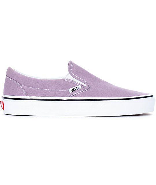 5b8d60705d1 Vans Slip-On Sea Fog   True White Skate Shoes