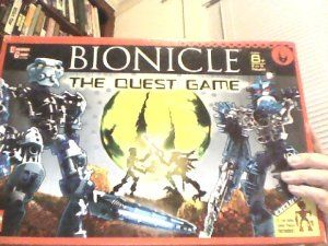 LEGO Bionicle Game by Lego. $16.99. The evil Piraka have invaded the island of Voya Nui and are now on the hunt for the powerful Mask of Life. Take up the Toa Inika mission to find the Mask before the Piraka. Traverse the island carefully, and be ready to go to battle along the way. Includes 6 exclusive collectible Toa Inika game pieces, a double-sided game board, a Protodermis ball launcher with Zamor sphere, a Piraka target, 50 Quest cards and a die.