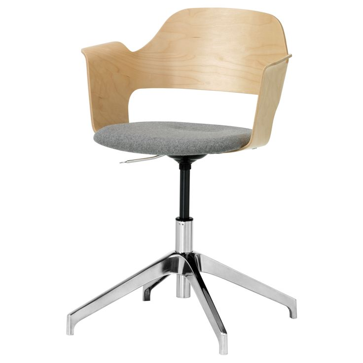 FJÄLLBERGET Conference chair - IKEA. Inexpensive office-type chair that looks great. If only it had wheels