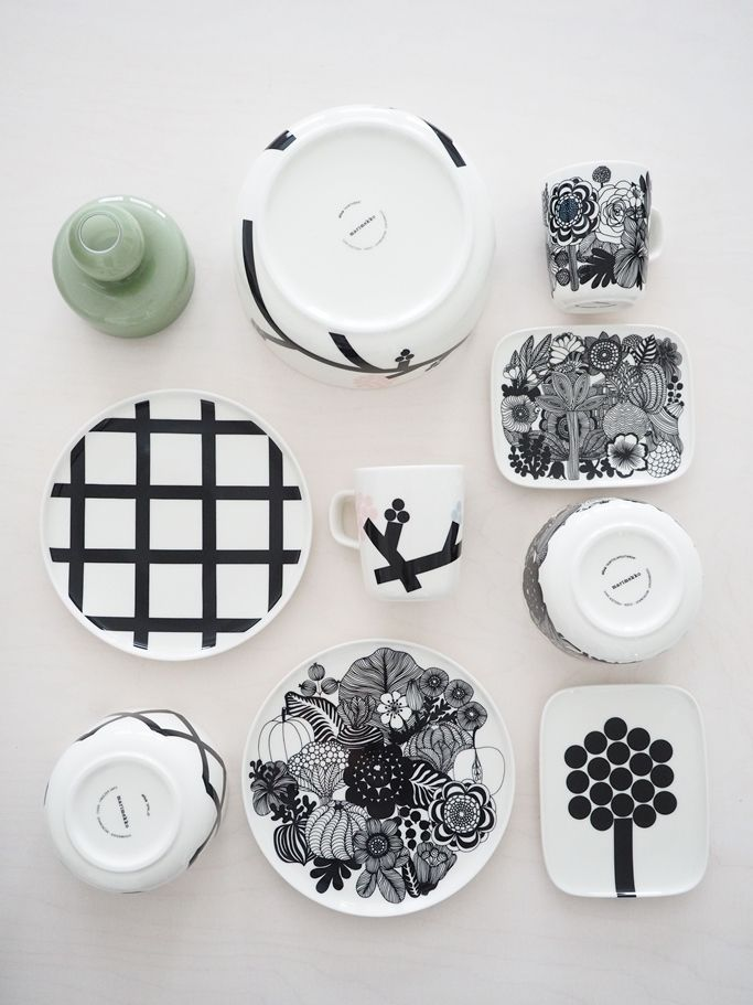 MARIMEKKO Every day of the week collection, #hortensie, #spalje, #monochrome, #chic