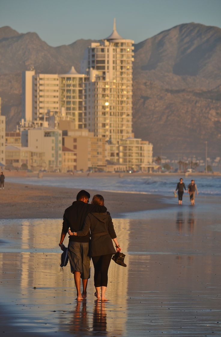 Late afternoon reflection time on Strand beach - Helderberg area - Cape Town.