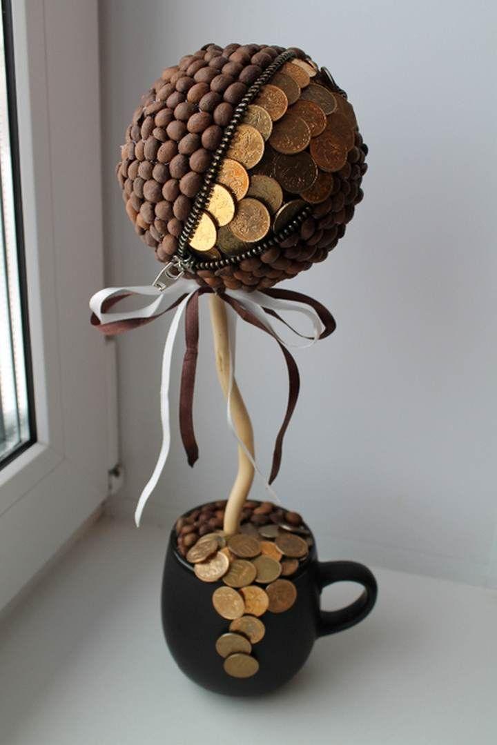 Топиарий из денег: фото, денежное дерево своими руками пошагово, мастер класс из…