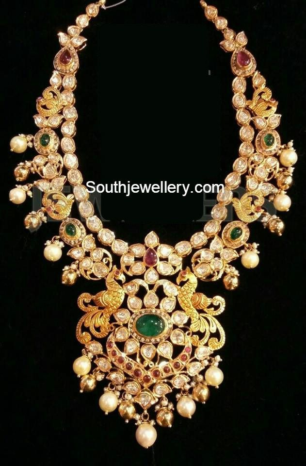 Uncut Diamond Necklace latest jewelry designs - Page 8 of 40 - Jewellery Designs