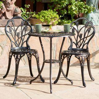 Elegant Christopher Knight Home Charleston Aluminum Copper Bistro Set Overstock Shopping Big Discounts on Christopher