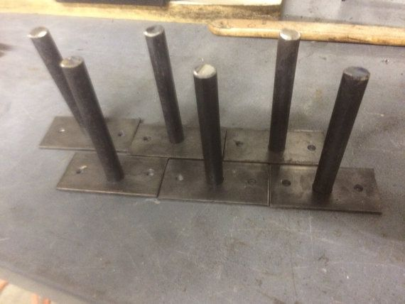 hidden shelf hardware made from 1x3 steel plate 18th in thick