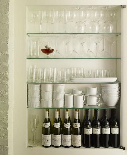 Glass Kitchen Shelf: 17+ Images About Glass Cabinets On Pinterest