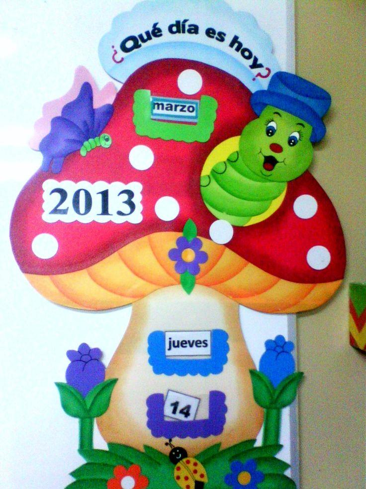 calendario para niños en goma eva