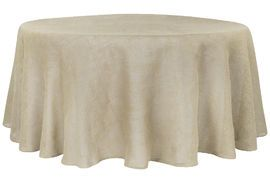 "Burlap+132""+Round+Tablecloth+-+Natural+Tan"